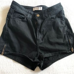 Black American apparel high waisted cotton shorts